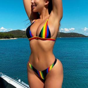 Rainbow Bikini Swimwear Set (Body)